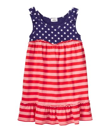 Indigo Bottle & Pink Stripe Dress - Infant & Girls