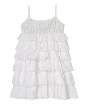 White Tiered Ruffle Dress - Infant & Toddler