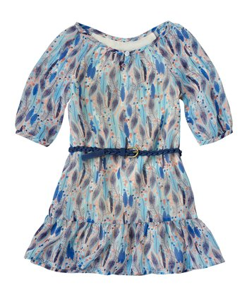 Vanilla Feather Chiffon Dress - Infant & Toddler