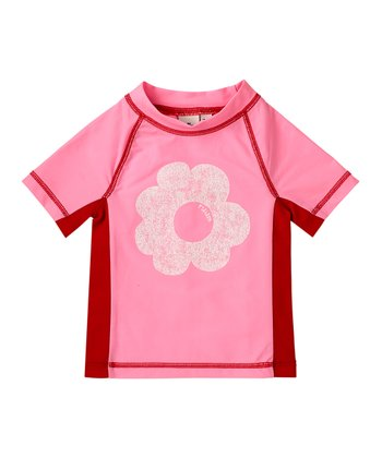 Cotton Candy Flower Rashguard - Infant, Toddler & Girls