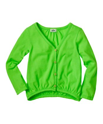 Neon Lime Cardigan - Infant & Toddler