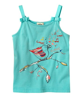 Blue Dream Bird Bow Tank - Infant & Toddler