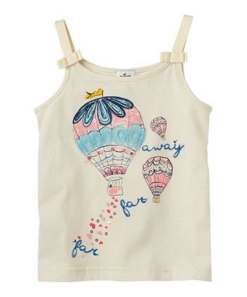 Vanilla Hot Air Balloon Bow Tank - Infant & Toddler