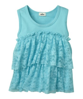 Blue Dream Lace Tiered Tank - Infant & Toddler