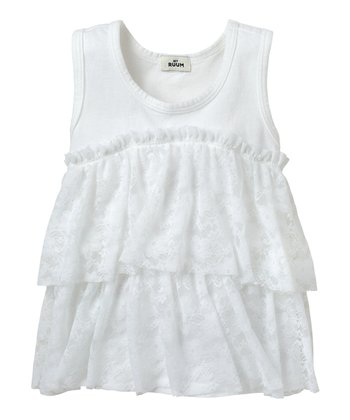 White Lace Tiered Tank - Infant & Toddler