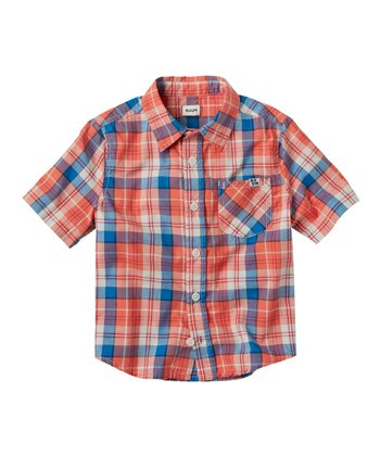 Spice Plaid Button-Up - Infant & Toddler