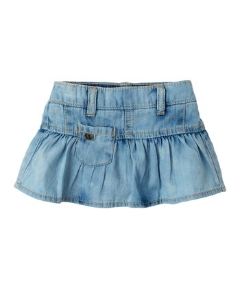Baby Powder Wash Logo Pocket Denim Skirt - Infant