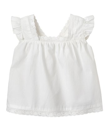 White Angel-Sleeve Top - Infant