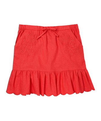 Guava Jam Crocheted Skirt - Girls