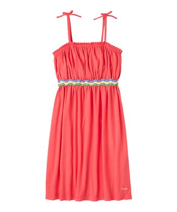 Guava Jam Braided Belt Dress - Girls