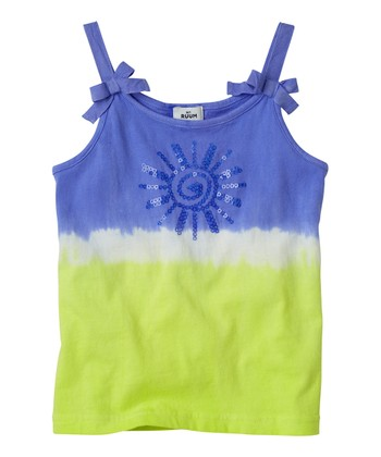 Periwinkle Blue Sequin Tie-Dye Tank - Infant, Toddler & Girls
