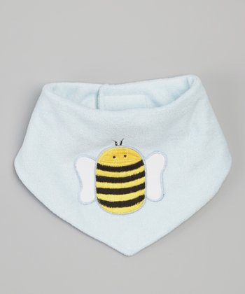 Light Blue Bumblebee Bandanna Bib