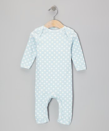 Light Blue Polka Dot Playsuit - Infant