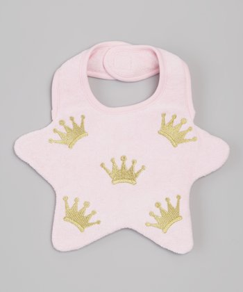 Light Pink Crown Star Bib