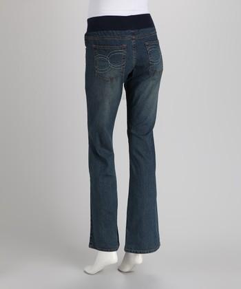 House Of Freedom Medium Wash Link Flared Maternity Jeans