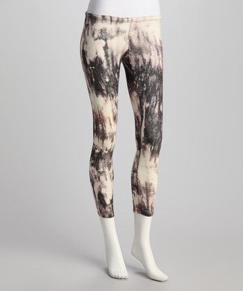 Black Tie-Dye Leggings