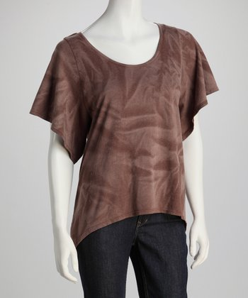 Brown Bird Cutout Top
