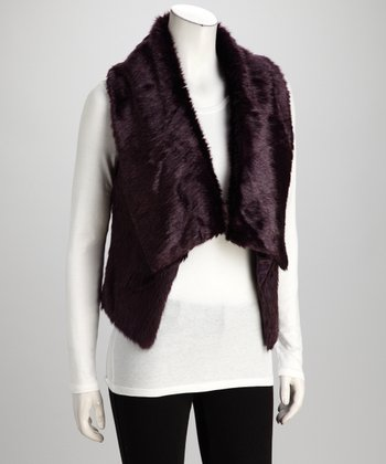 Purple Faux Fur Vest
