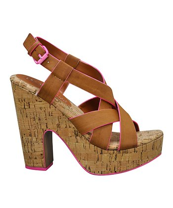 Brown Piped Sandal