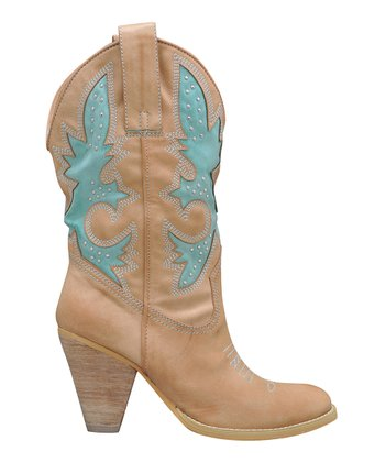 Natural Rio Grande Cowboy Boot