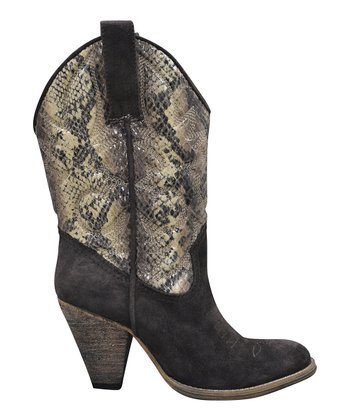 Brown Snakehole Cowboy Boot