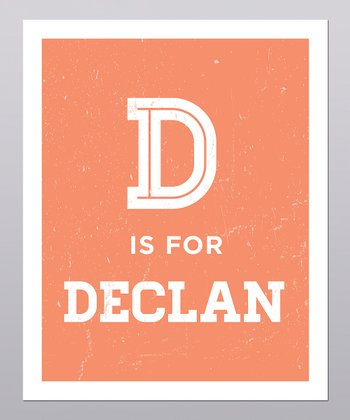 Orange Distressed Personalized Print