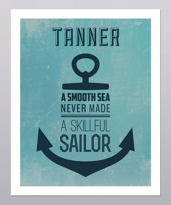 'Skillful Sailor' Personalized Print