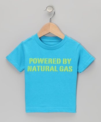 Turquoise 'Powered By Natural Gas' Tee - Toddler & Kids