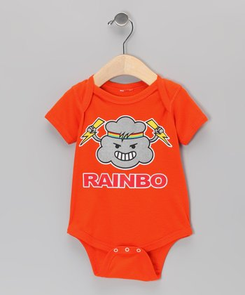 Orange 'Rainbo' Bodysuit - Infant