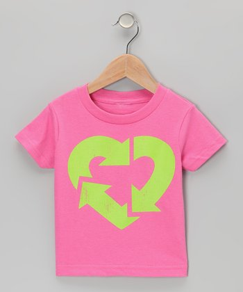 Raspberry Recycle Love Tee - Infant, Toddler & Girls