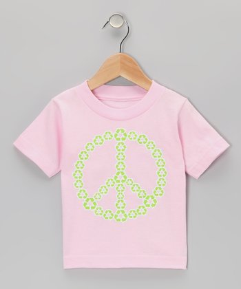 Light Pink Recycle Peace Tee - Infant, Toddler & Girls