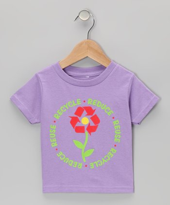 Lavender 'Reduce Reuse Recycle' Tee - Infant, Toddler & Girls