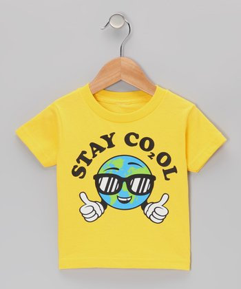 Yellow 'Stay Cool' Earth Tee -  Infant, Toddler & Boys