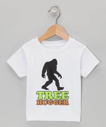 White 'Tree Hugger' Sasquatch Tee - Toddler & Boys