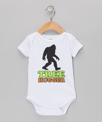 White 'Tree Hugger' Sasquatch Bodysuit - Infant