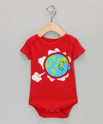 Red Earth Fart Bodysuit - Infant