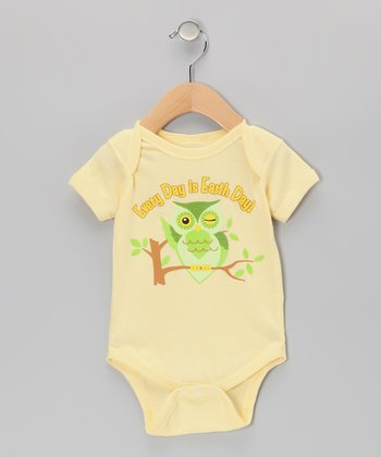 Banana 'Every Day is Earth Day!' Bodysuit - Infant
