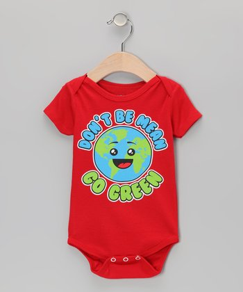 Red 'Don't Be Mean Go Green' Bodysuit - Infant