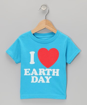 Turquoise I Love Earth Day Tee - Toddler & Kids
