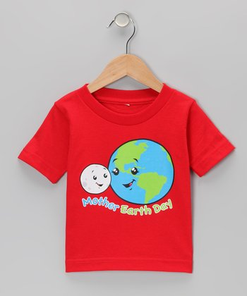Red 'Mother Earth Day' Tee - Infant, Toddler & Kids