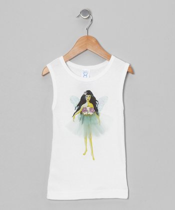 Sticky Pixies White Ruby Tank - Toddler & Girls