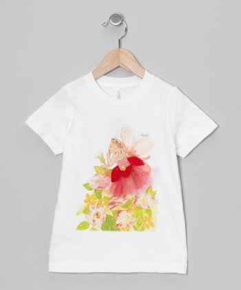 Sticky Pixies White Lucy Fairy Tee - Toddler & Girls