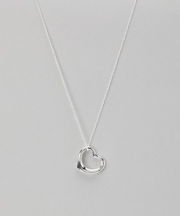Silver Naomi Open Heart Necklace