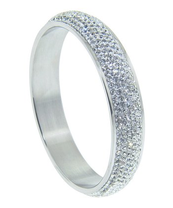 Swarovski Crystal & Silver Laura Bangle