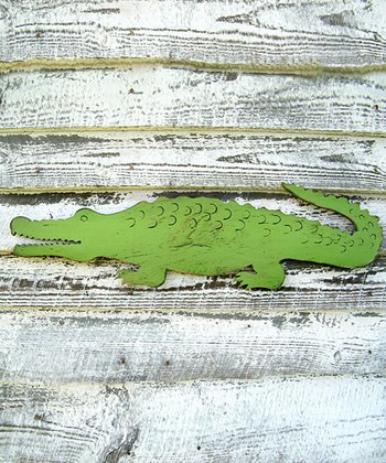 Swamp Green Alligator Wall Art