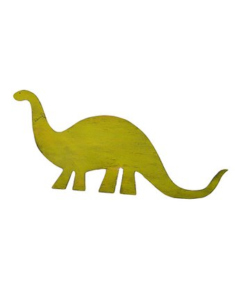 Key Lime Green Brachiosaurus Dinosaur Wall Art