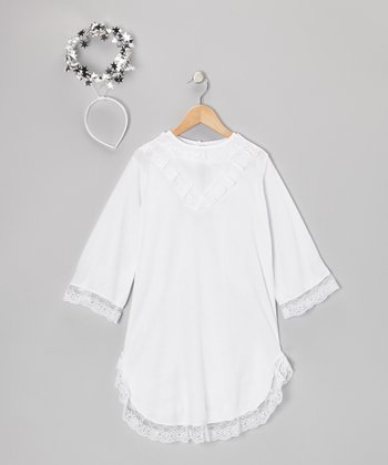 White Angel Dress-Up Set - Toddler