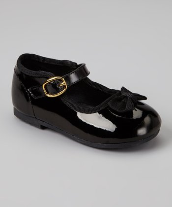 Black Patent Bow Tie Mary Jane