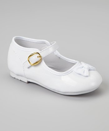 White Patent Bow Tie Mary Jane