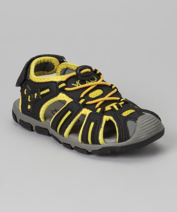 Black & Yellow Sporty Sandal